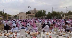 بالصور: الأفطار الصباحي في مصلى العيد لعام الـ1435هـ