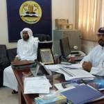 بالصور: مدير التعليم بالمندق يزور ثانويه النصباء مبارك له بالتميز